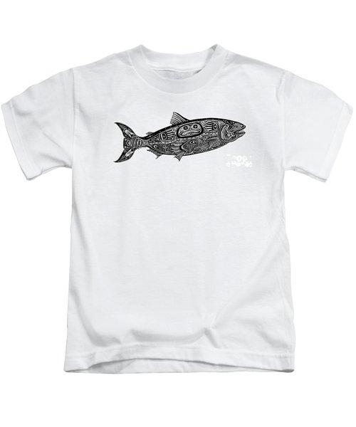 Tribal Salmon Kids T-Shirt