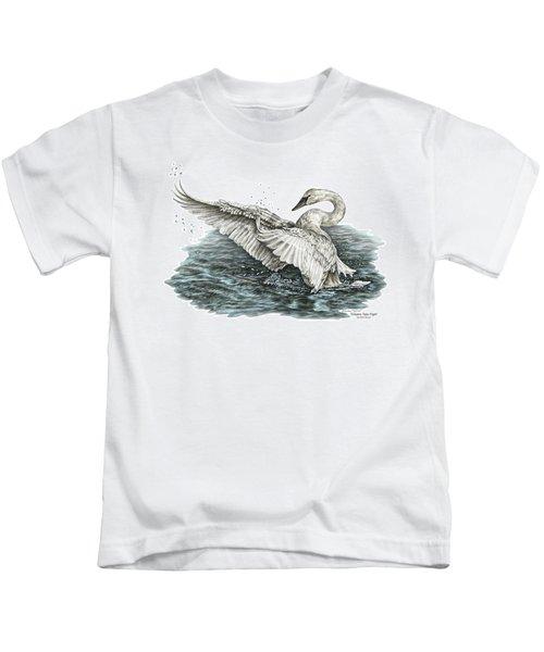 White Swan - Dreams Take Flight-tinted Kids T-Shirt