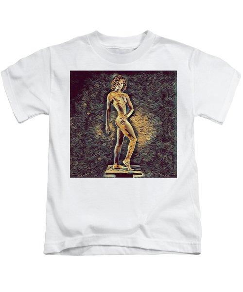 0957s-zac Fit Black Dancer Standing On Platform Kids T-Shirt