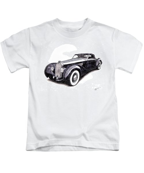 1938 Delage D8 120 Kids T-Shirt