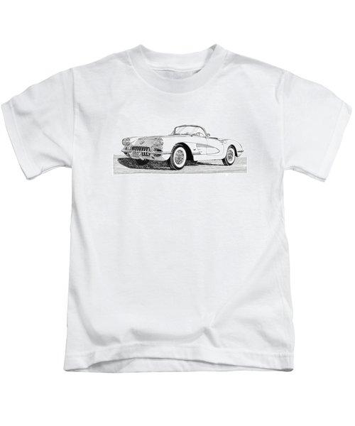 1960 Corvette Kids T-Shirt