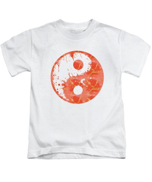 Abstract Yin And Yang Taijitu Symbol Kids T-Shirt