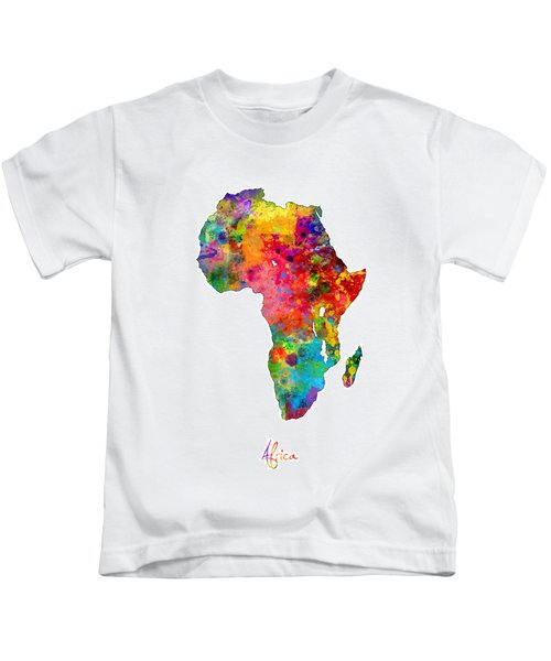Africa Watercolor Map Kids T-Shirt