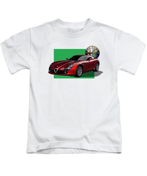 Alfa Romeo Zagato  T Z 3  Stradale With 3 D Badge  Kids T-Shirt