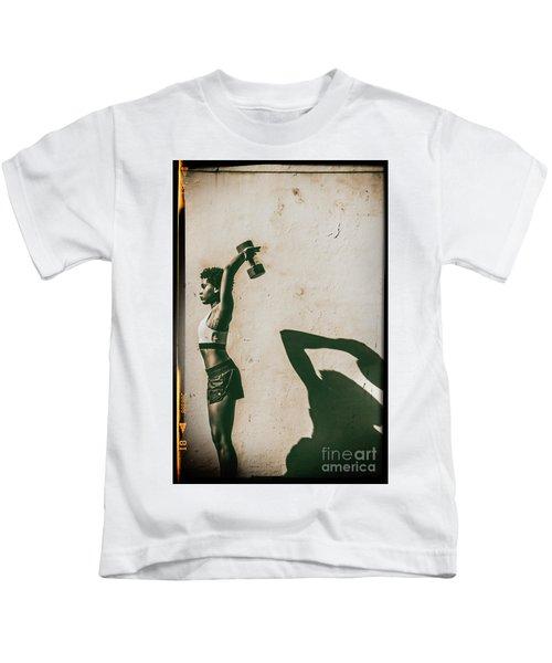Athletic Woman Kids T-Shirt