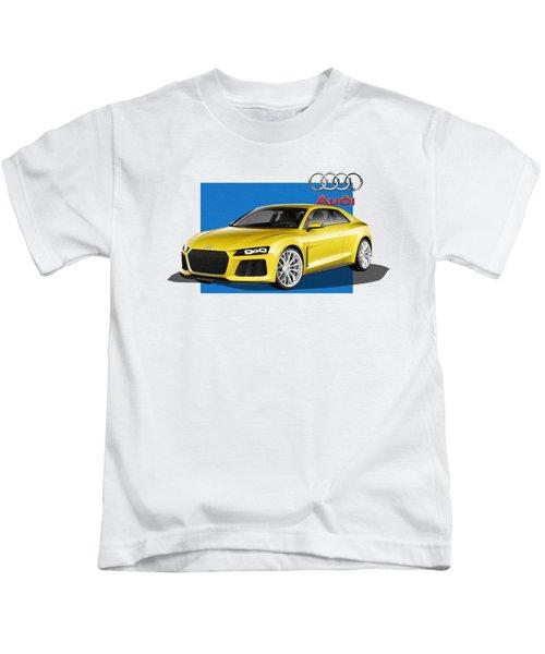 Audi Sport Quattro Concept With 3 D Badge  Kids T-Shirt