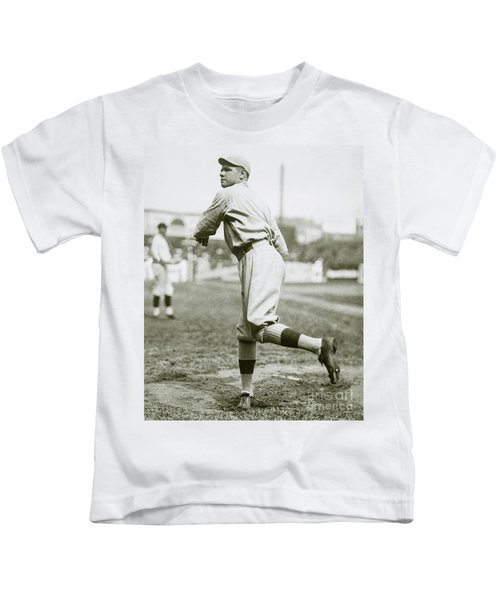 Babe Ruth Pitching Kids T-Shirt