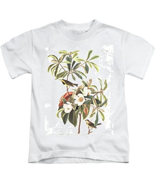 Bachman's Warbler  Kids T-Shirt by John James Audubon