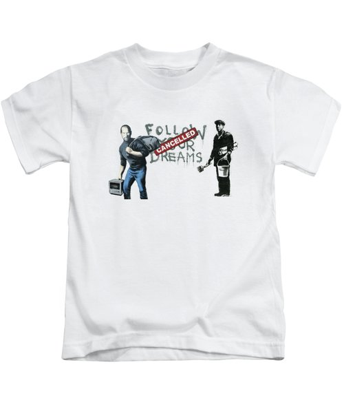 Banksy - The Tribute - Follow Your Dreams - Steve Jobs Kids T-Shirt
