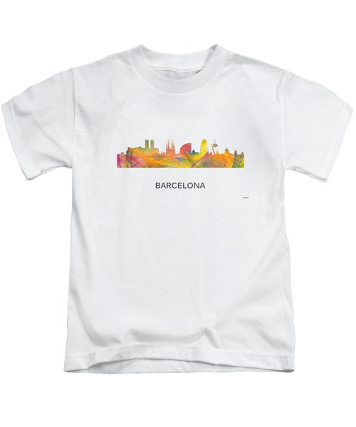 Barcelona Spain Skyline Kids T-Shirt