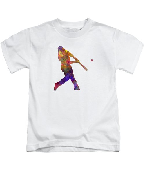 Baseball Player Hitting A Ball Kids T-Shirt