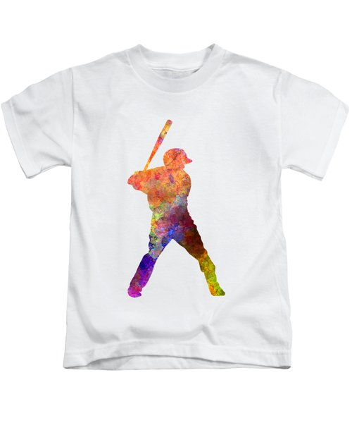 Baseball Player Waiting For A Ball Kids T-Shirt by Pablo Romero