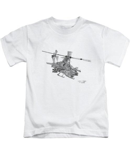 Bell Ah-1z Viper Kids T-Shirt by Arthur Eggers