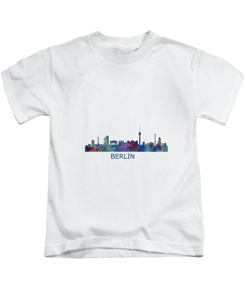 Berlin City Skyline Hq 1 Kids T-Shirt by HQ Photo