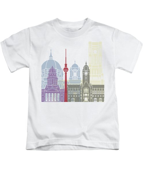 Berlin Skyline Poster Kids T-Shirt