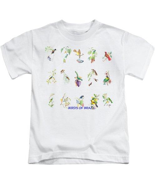 Birds Of Brazil Kids T-Shirt