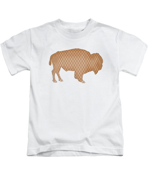 Bison Kids T-Shirt by Mordax Furittus