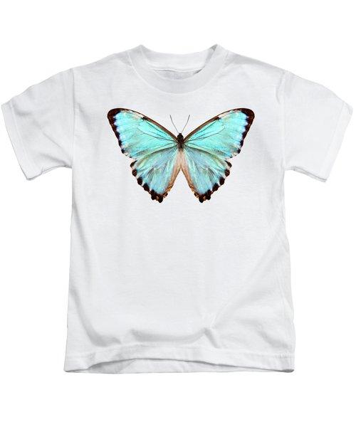 blue butterfly species Morpho portis thamyris Kids T-Shirt