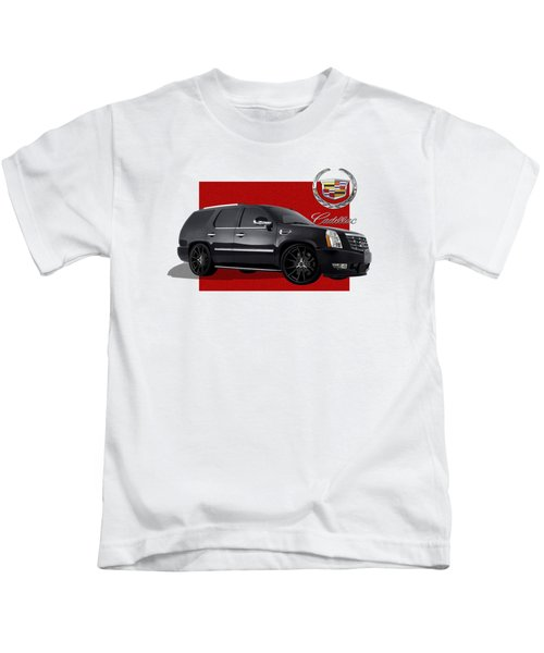 Cadillac Escalade With 3 D Badge  Kids T-Shirt