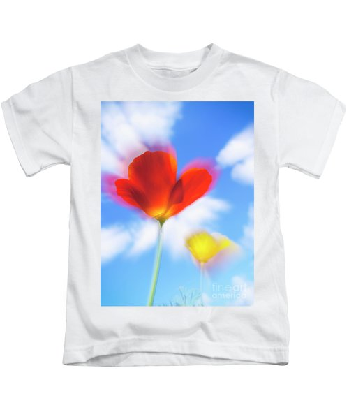 California Poppies Kids T-Shirt