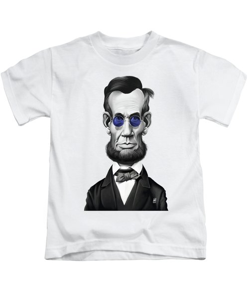 Celebrity Sunday - Abraham Lincoln Kids T-Shirt by Rob Snow