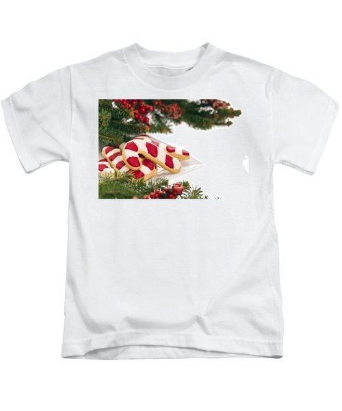 Christmas Cookies Decorated With Real Tree Branches Kids T-Shirt