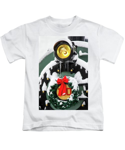 Christmas Train At Pacific Junction Kids T-Shirt