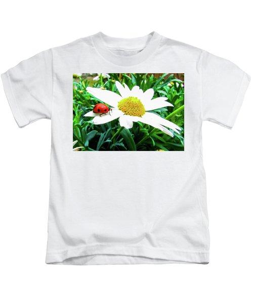 Daisy Flower And Ladybug Kids T-Shirt