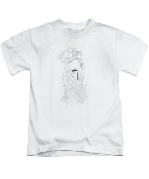 David Lynch Hands Kids T-Shirt by Yo Pedro