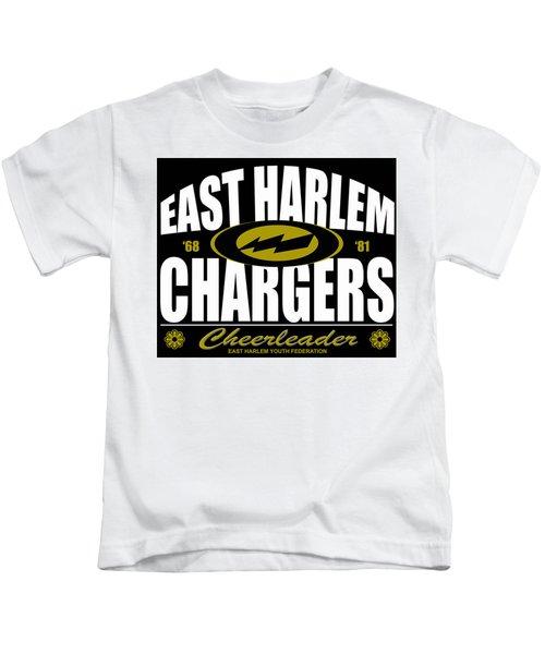 East Harlem Chargers Cheerleader Kids T-Shirt