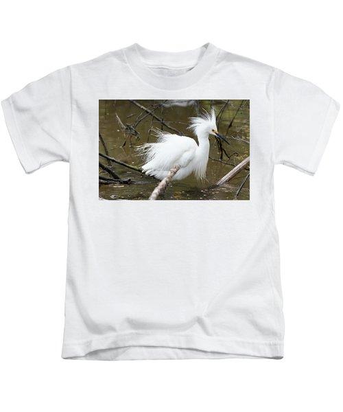 Egret Bath Kids T-Shirt