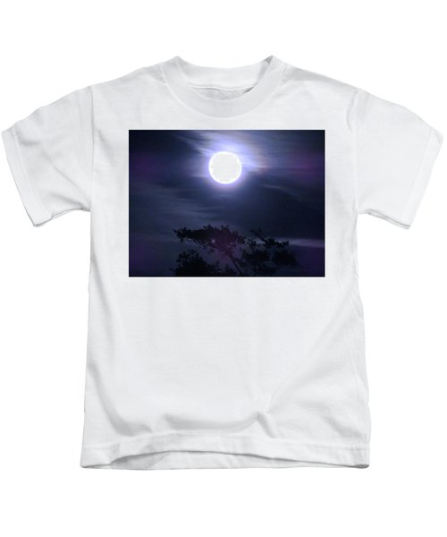 Full Moon Falling Kids T-Shirt