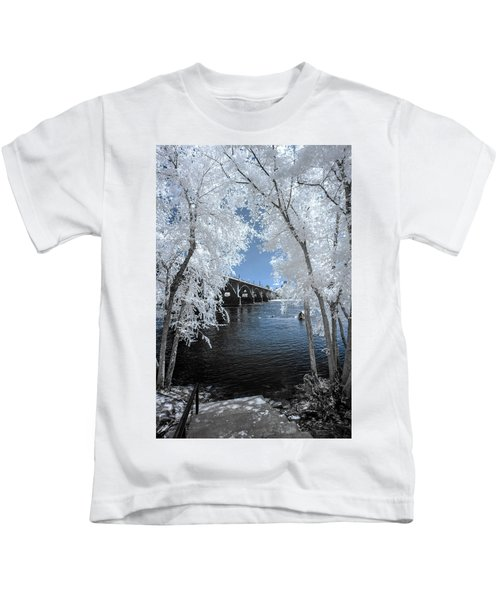 Gervais St. Bridge In Surreal Light Kids T-Shirt