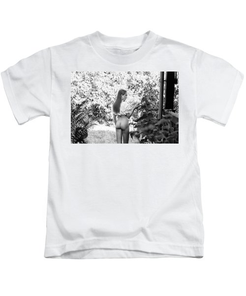 Girl In Swedish Garden Kids T-Shirt
