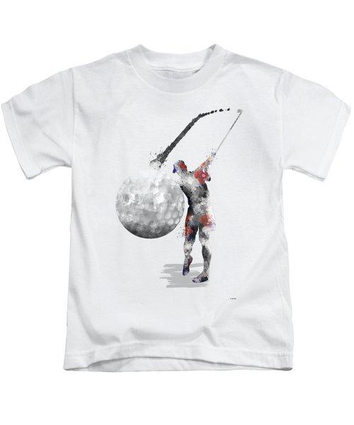 Golf Player Kids T-Shirt by Marlene Watson