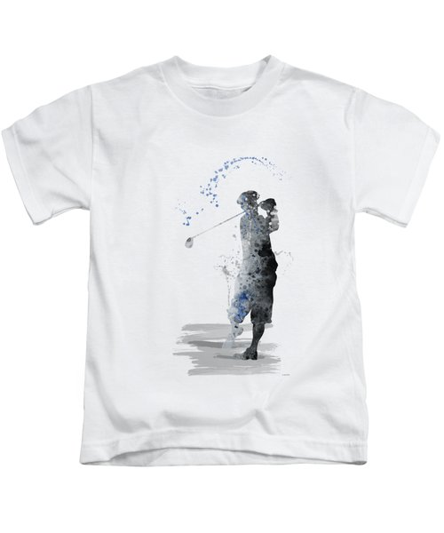 Golfer Kids T-Shirt by Marlene Watson