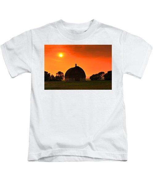 Harvest Sunset  Kids T-Shirt