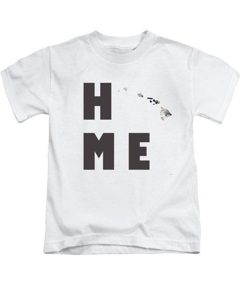 Hawaii State Map Kids T-Shirt