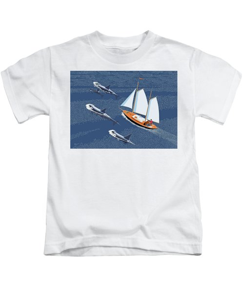 In The Company Of Whales Kids T-Shirt
