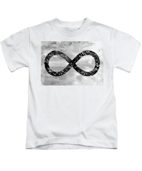 Infinity Symbol-black Kids T-Shirt