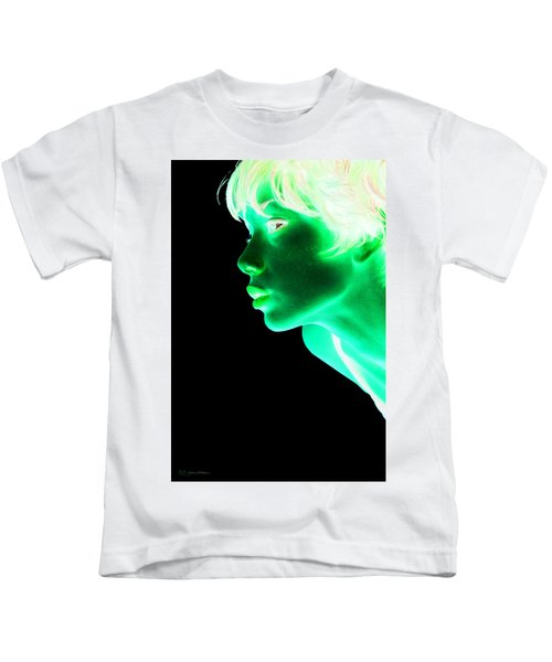 Inverted Realities - Green  Kids T-Shirt