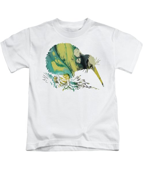 Kiwi Bird Kids T-Shirt by Mordax Furittus