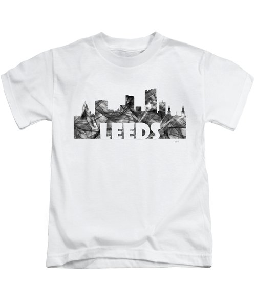 Leeds England Skyline Kids T-Shirt