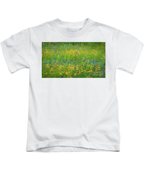 Mixed Wildflowers In Texas 538 Kids T-Shirt