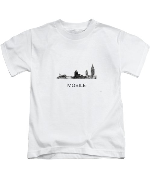 Mobile Alabama Skyline Kids T-Shirt
