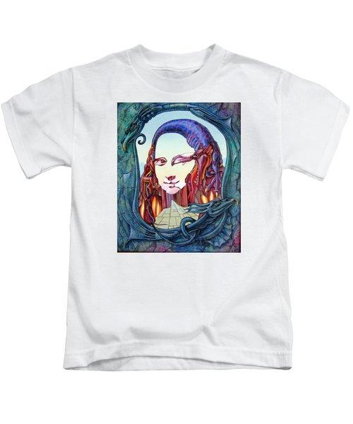Mona Lisa. Fire Kids T-Shirt