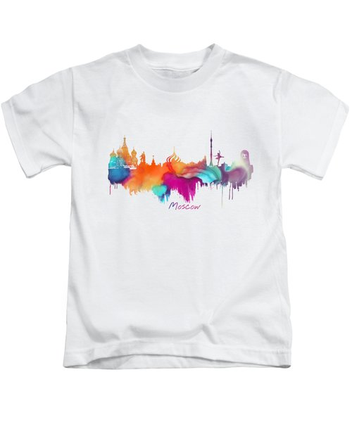 Moscow  Kids T-Shirt by Justyna JBJart