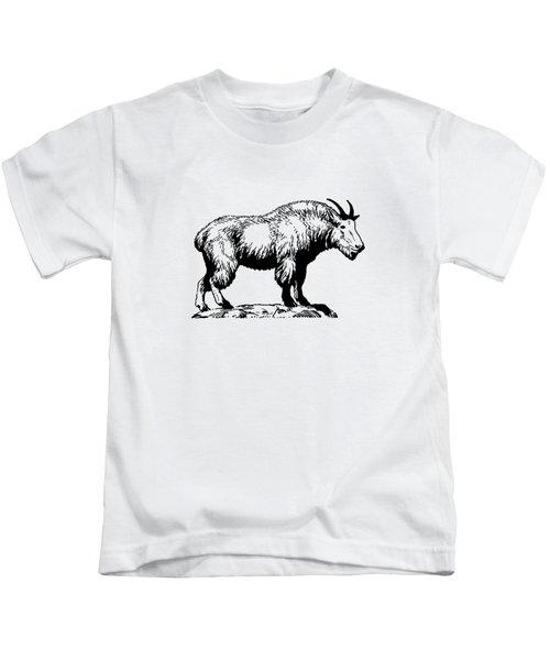 Mountain Goat Kids T-Shirt by Mordax Furittus