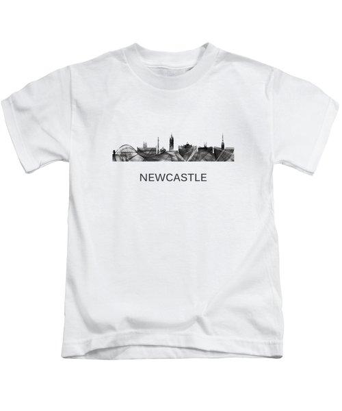 Newcastle England Skyline Kids T-Shirt