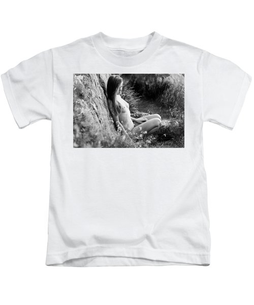 Nude Girl In The Nature Kids T-Shirt